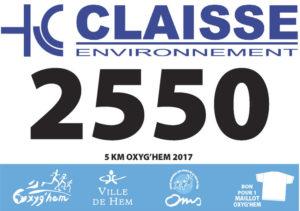 Dossards du 5km Oxyg'Hem-2017