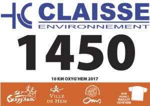 Dossards du 10km Oxyg'Hem-2017